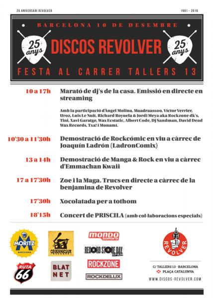 Discos Revolver 25 aniversario programa 10 diciembre 2016