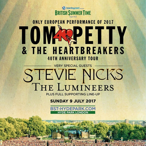 Tom Petty &The Heartbreakers en Londres 9 julio 2017 Hyde Park