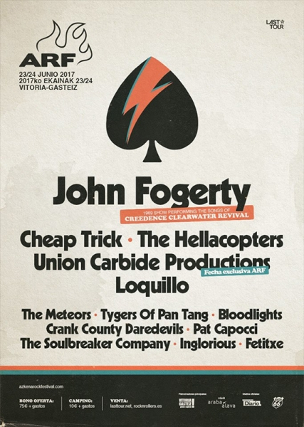 John Fogerty actuará en el Azkena Rock Festival