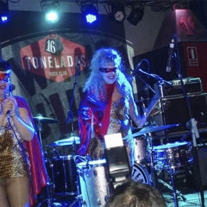 Las Carcomas abriendo para Demented Are Go en concierto Valencia 2016