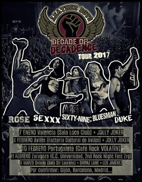 Leather Boys nuevo EP Decade of Decadence y gira Décimo Aniversario
