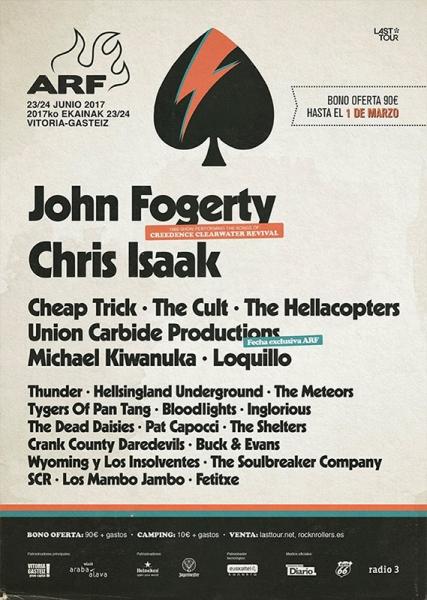 Chris Isaak actuará en el Azkena Rock Festival junto a otros nuevos nombres como Thunder y The Godfathers entre otros