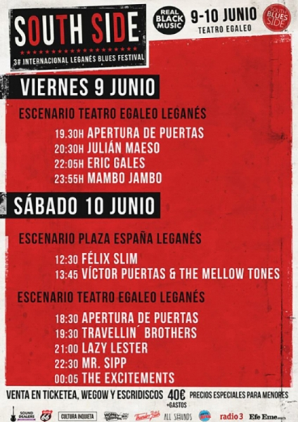 The Excitements entrevista Leganés Blues festival 2017