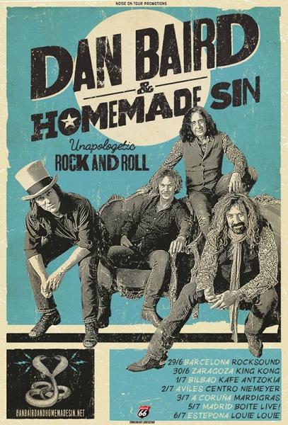 Dan Baird and Homemade Sin gira española 2017