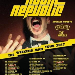Royal Republic, Tim Vantol, The Wholls este fin de semana en Barcelona y Madrid