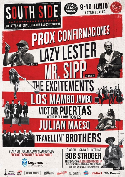 Lazy Lester, The Excitements, Julián Maeso y Bob Stroger nuevos nombres para el Leganes Blues Festival South Side