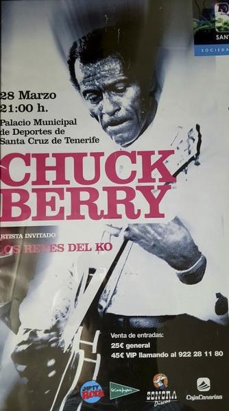 Chuck Berry concierto pabellón de deportes Santa Cruz Tenerife marzo 2008