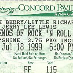 Chuck Berry entradas en San Francico Legends of Rock and Roll Little Richard y Jerry Lee Lewis