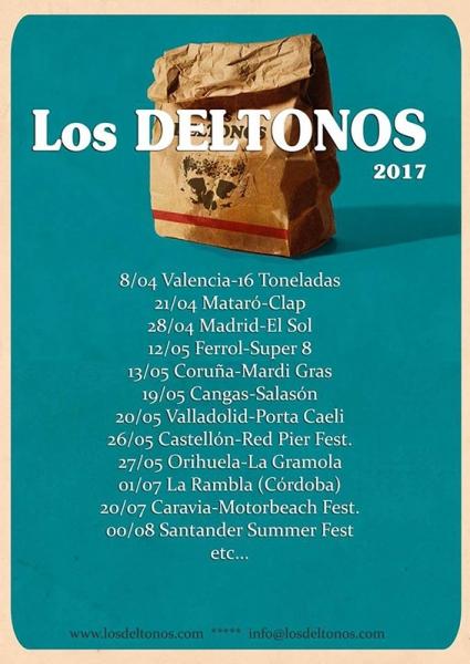 Los Deltonos anuncian nuevo disco y gira 2017