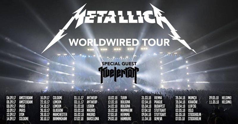 Metallica actuarán en Madrid y Barcelona en febrero 2018