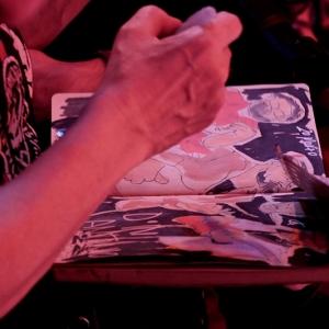 Cayetana Álvarez pintar música.11