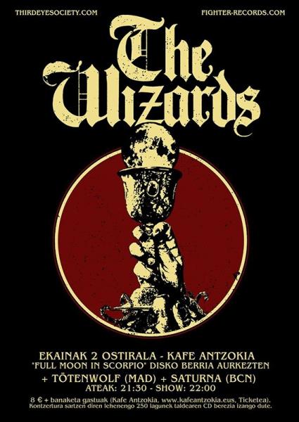 The Wizards presentación nuevo disco + Tötenwolf + Saturna Kafe Antzokia 2017
