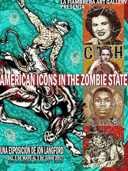 Jon Langford expone en Madrid American Icons In The Zombie State