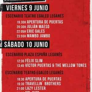 Leganés Blues Festival SouthSide 2017 horarios