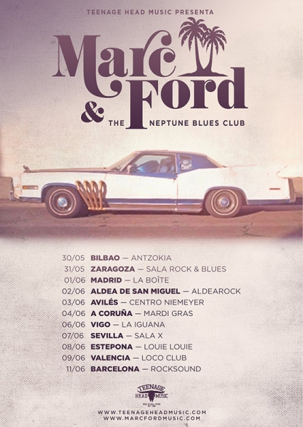 Gira española de Marc Ford and the Neptunes Blues Club 2017