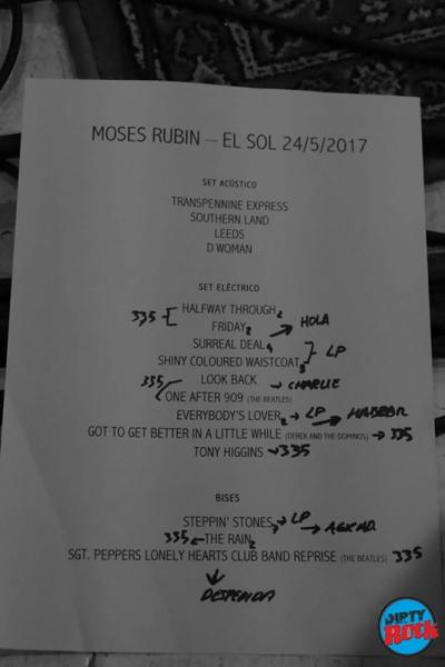 Moses Rubin concierto 2017 setlist