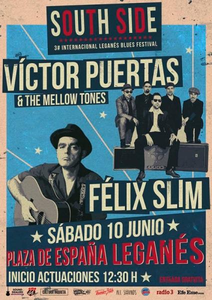 Entrevista Víctor Puertas & The Mellow Tones en el Leganés Blues Festival