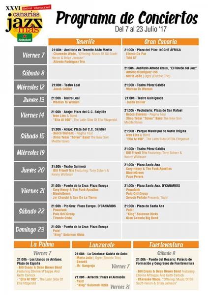 Festival Internacional Canarias Jazz & más Heineken 2017