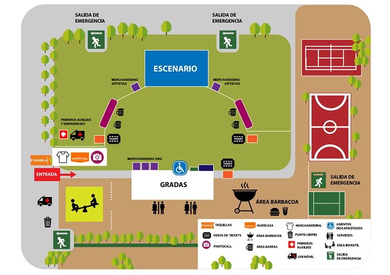 Huercasa country festival 2017 plano