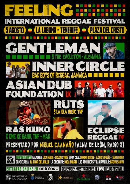 Feeling Festival anuncia a Gentleman, Inner Circle y Asian Dub Foundation en La Laguna Tenerife