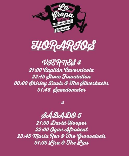 La Grapa Black Music Festival 2017 horarios