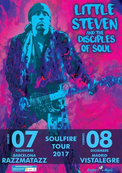 Little Steven and The Disciples Of Soul actuarán en Barcelona y Madrid