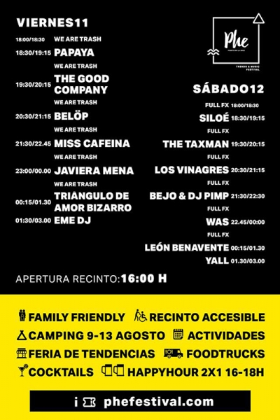 Triángulo Amor Bizarro Phe Festival 2017 horarios