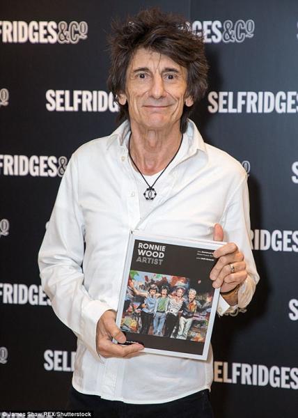 Primera aparición pública de Ronnie Wood Artist nuevo libro.1