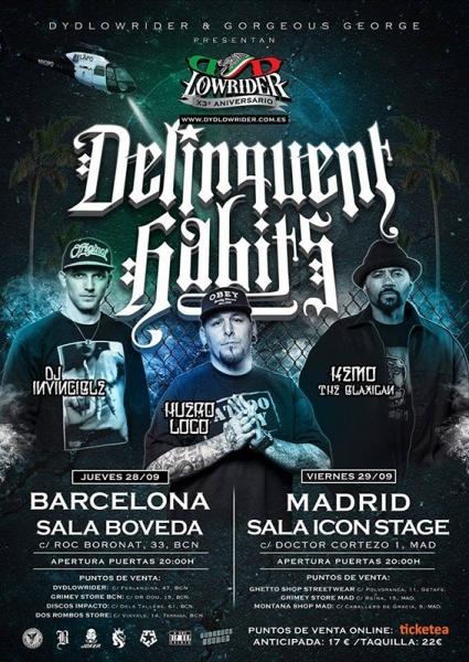 Delinquents Habits anuncian nuevo disco y conciertos en Barcelona, Madrid y Tenerife