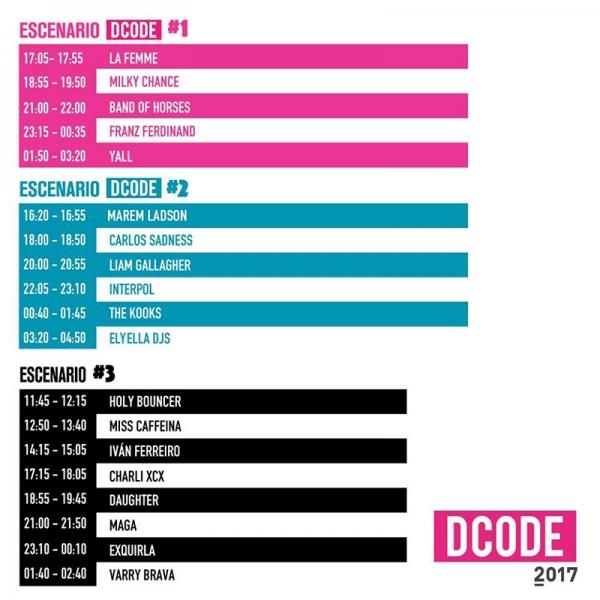 Dcode Festival 2017 horarios
