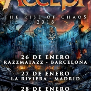 Gira de ACCEPT con su Rise of Chaos 2018 a principios de año en Barcelona, Madrid y Bilbao