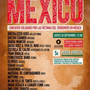 Mexico concierto solidario Tenerife 2017