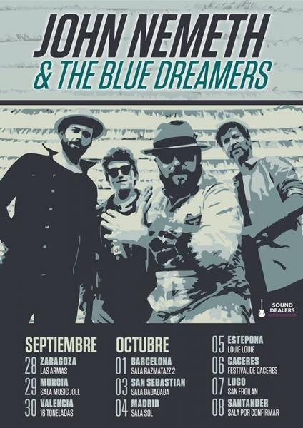 John Nemeth and the Blue Dreamers gira española 2017