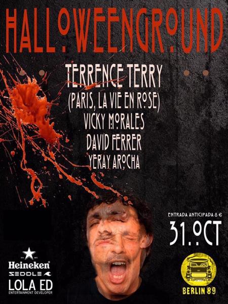Terence Terry en la noche de Halloween en Berlín 89 en Tenerife
