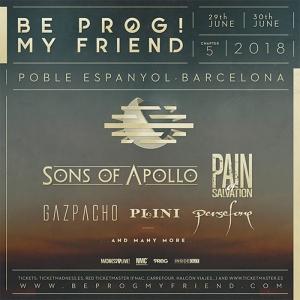 GAZPACHO y PERSEFONE se unen a la quinta edición del BeProg My Friend