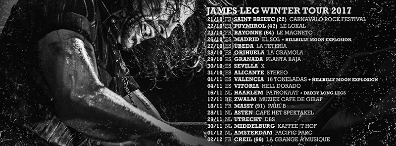 Gira española de James Leg para presentar Blood on the Keys