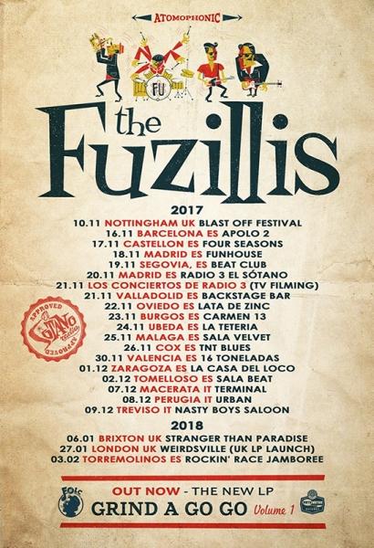 The Fuzillis presentan su disco debut Grind A Go Go. Volume 1 en España