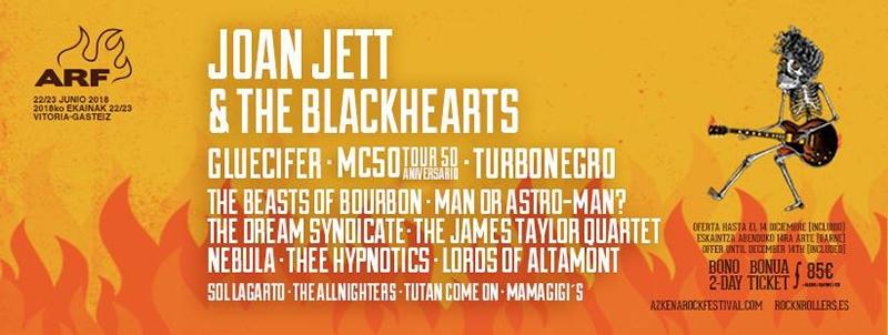 Gluecifer al Azkena Rock Festival junto con Thee Hypnotics, Turbonegro, ManOr Astro-Man, Lords Of Altamont y Mam