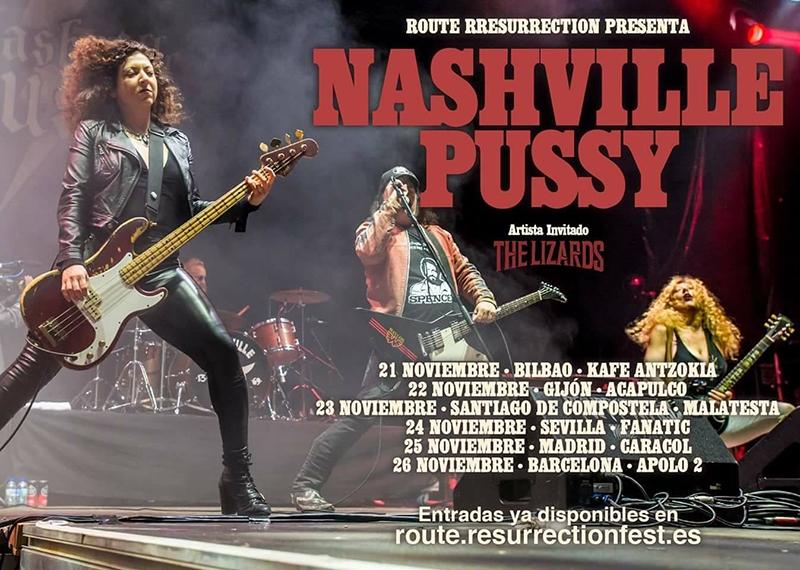 Nashville Pussy gira 2017 noviembre