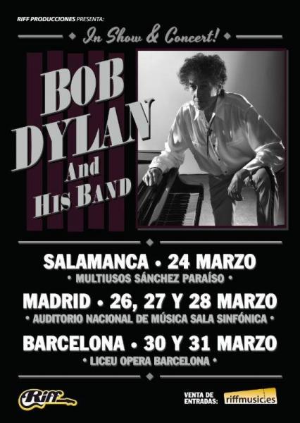 Bob Dylan en Salamanca, Madrud y Barcelona 2018