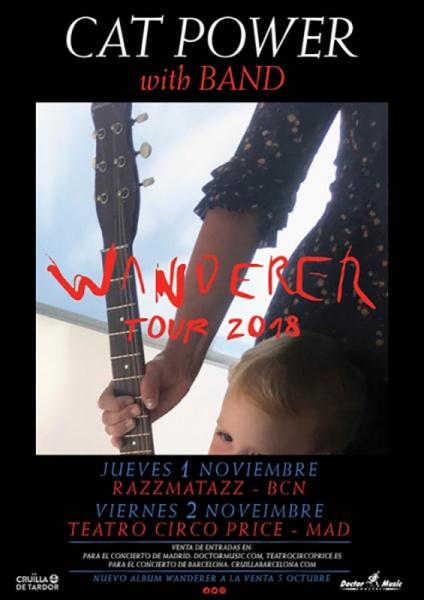 Cat Power actuará en Barcelona, Madrid y Benidorm para presentar Wanderer 2018
