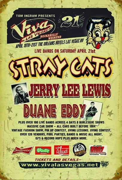 Posible gira de Stray Cats tras un concierto en Las Vegas en abril