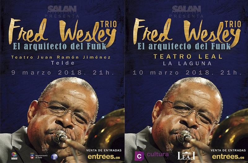 Fred Wesley en Telde y La Laguna marzo 2018