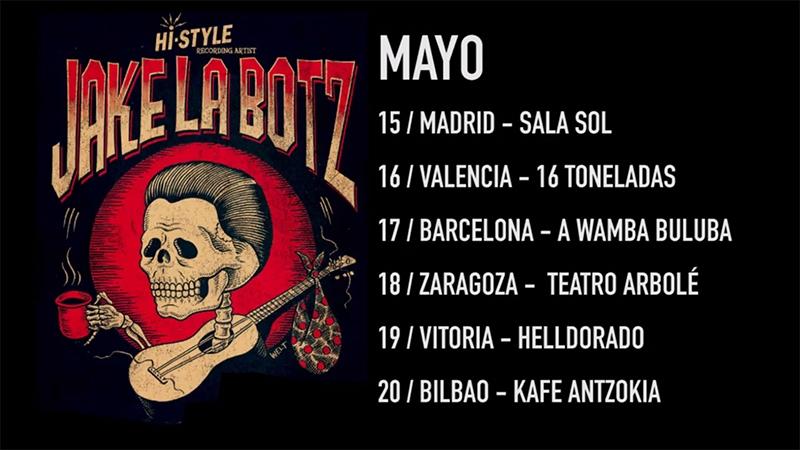 Gira española de Jake La Botz mayo 2018