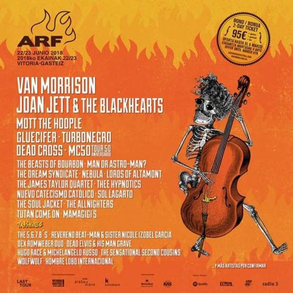 Van Morrison el otro cabeza de cartel del Azkena Rock Festival