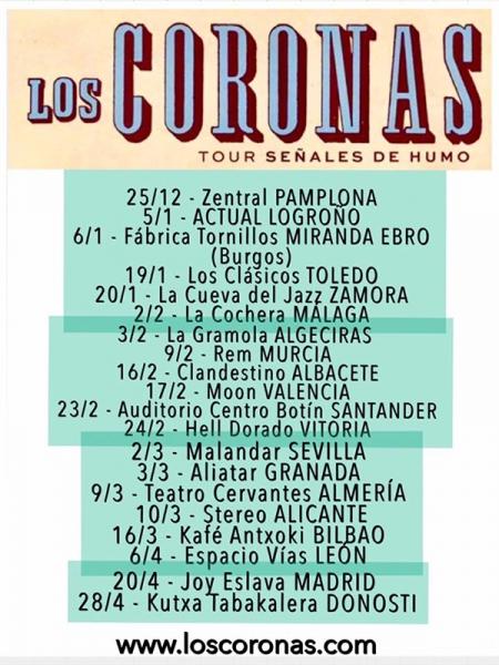 Los Coronas fechas gira 2018 señales de humo