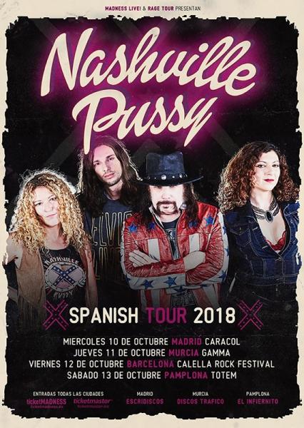 Nashville Pussy de gira por la península en octubre