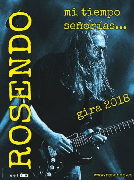 Rosendo anuncia su retirada de los escenarios con la gira Mi tiempo señorías...Las Palmas 1 junio 2018