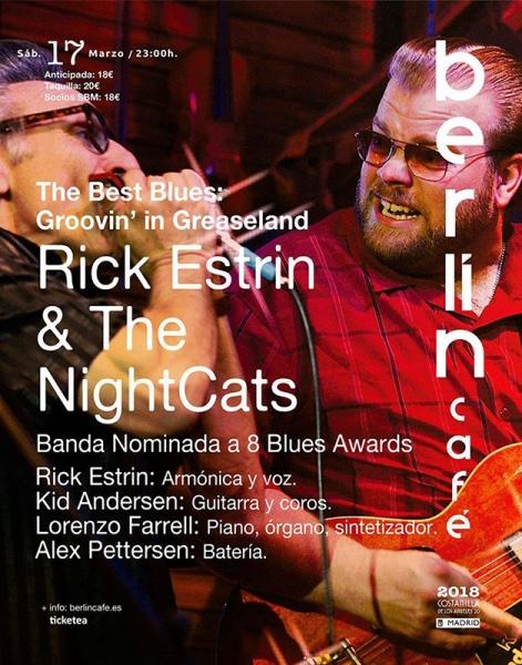 Rick Estrin & The Nightcats en Barcelona y Madrid 2018