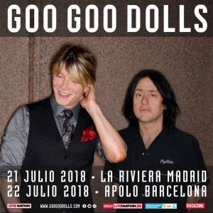 Goo Goo Dolls visitan por primera vez nuestro país